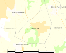 Mapa obce Beauvallon