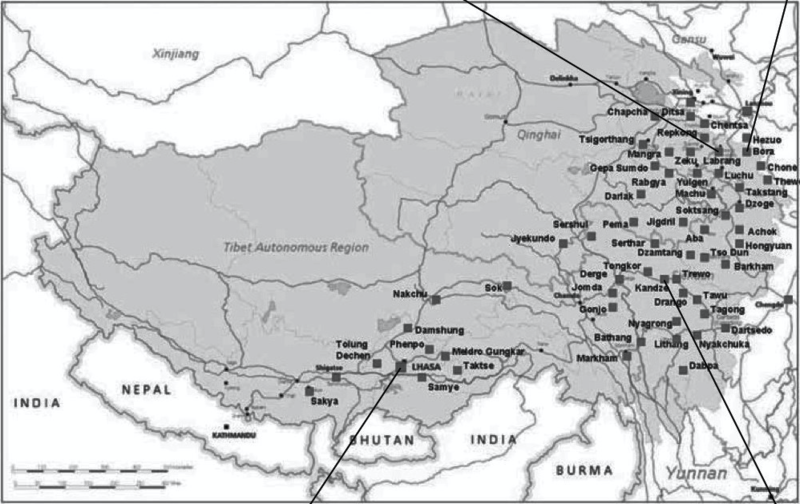 File:Map of 2008 Tibetan protest locations compiled by Students for a Free Tibet.png