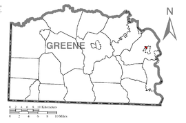 Map of Carmichaels, Greene County, Pennsylvania Highlighted.png