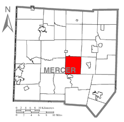 Location of Coolspring Township in Mercer County