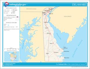 Landkarte von Delaware