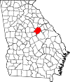 Map of Georgia highlighting Hancock County.svg