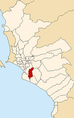 Map of Lima highlighting San Juan de Miraflores.PNG