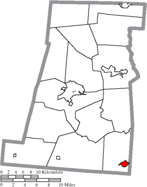 Mount Sterling, Ohio - Image: Map of Madison County Ohio Highlighting Mount Sterling Village