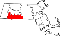 Map of Massachusetts highlighting Hampden County.svg
