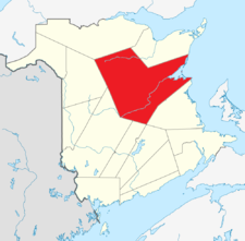 Location of Northumberland County, New Brunswick
