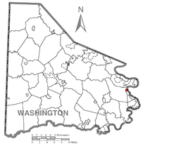Map of North Charleroi, Washington County, Pennsylvania Highlighted.png