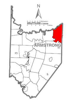 Map of Redbank Township, Armstrong County, Pennsylvania Highlighted.png