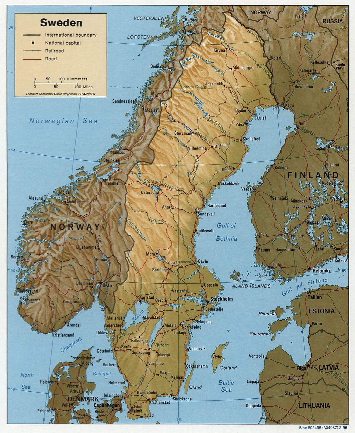 La Norvegia Cartina.Geografia Della Svezia Wikipedia