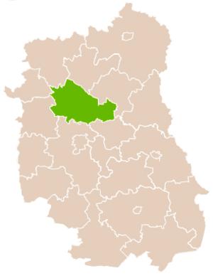 Lubartów County - Image: Mapa Pow Lubartowski