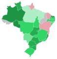 Mapa do resultado da votação no plenário da Câmara dos Deputados sobre o pedido de impeachment de Dilma Rousseff.png