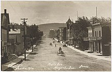 Avenue Maple, Megantic, carte postale, vers 1914.