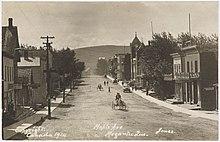Avenue Maple, Megantic, carte postale, vers 1914.