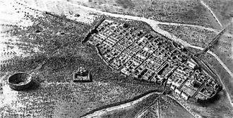 Mediomatrici - City scape of Divodurum Mediomatricum (ca. 2nd century AD), ancestor of present-day Metz, capital of the Mediomatrici.