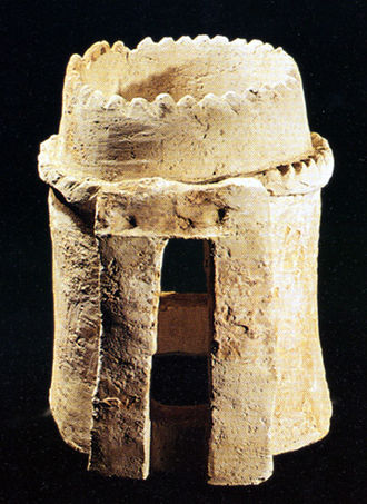 Glossary of sculpting - Adobe Ceramic maquette model of a tower. Dated 13th century BCE. Excavated at Chogha Zanbil, Iran.