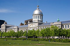 Bonsecours Market, as seen from the Old Port of Montreal