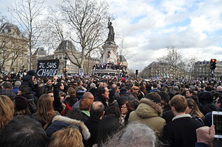 Republican marches January 10-11, 2015, rallies in support of the victims of the Charlie Hebdo shooting in France