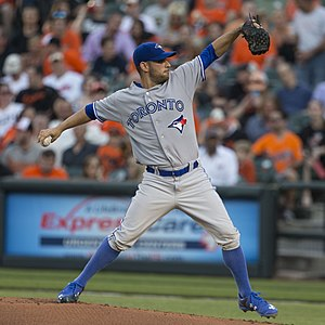 2015 Toronto Blue Jays season - Marco Estrada took no-hitters into the 8th inning in back-to-back starts in June, finishing the month with a 4–1 record and a 3.25 earned run average.