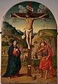 Marco palmezzano, cristo in croce tra la vergine e san girolamo, 01.jpg