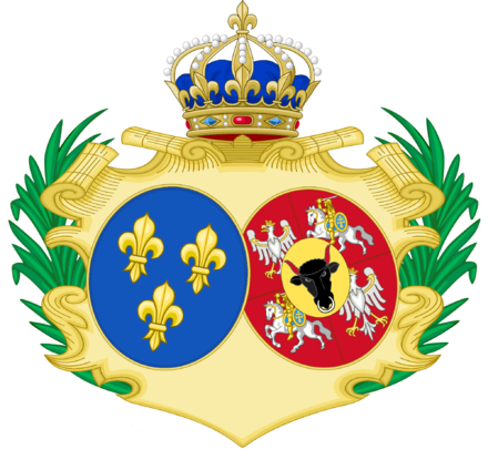 Coat of Arms of Marie as Queen of France Marie Leczsinska.png