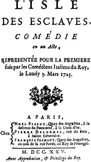 L'Île des esclaves - Title page from the first edition of L'Île des esclaves