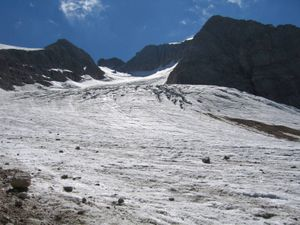 The Marmolada glacier