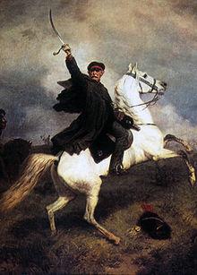 """""""Marschall Vorwärts"""", Gemälde von Emil Hünten, 1863 (Quelle: Wikimedia)"""