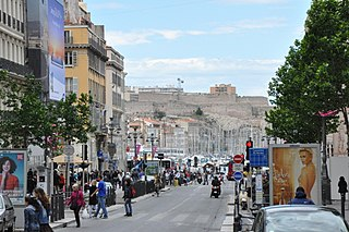 Canebière thoroughfare in Marseille, France