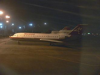 Marsland Aviation - A Marsland Aviation Yak-42D at Khartoum.