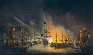 Ottoman Algeria - Bombardment of Algiers in 1816, by Martinus Schouman.