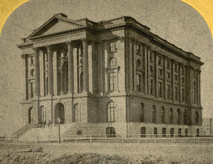 Original Rogers Building, Back Bay, Boston, 19th century Mass. Inst. Technology, by E. L. Allen (cropped).png