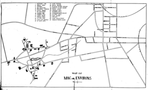 Campus of the University of Massachusetts Amherst - A map of the Massachusetts Agricultural College, circa 1912