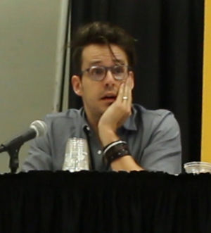 Matt Fraction - Fraction during the Milkfed Criminal Masterminds panel at HeroesCon 2015.