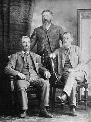 The Three Greenhorns - l-r: William Hailstone, Samuel Brighouse, John Morton