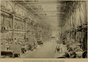 Maxim Nordenfelt Guns and Ammunition Company - Interior from the gun factory at Erith, featured in Cassier's Magazine, April 1895.