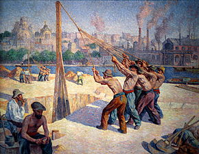 Les batteurs de pieux , 1902