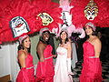 Mayor's Mardi Gras Ball at Gallier Hall red dresses feathers.jpg