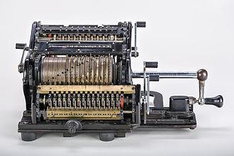 Leibniz wheel - Mechanical calculator Brunsviga 15 with removed shrouds.