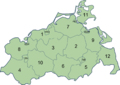 Mecklenburg-Vorpommern Kreise (nummeriert).png