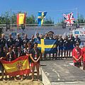 Medal Ceremony, European Dragon Boat Champions 2016, U24 Small Boat Men 200m.jpg
