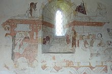 Medieval wall paintings and Norman window in the church of St. Thomas a Becket - geograph.org.uk - 1795359.jpg