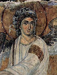 The White Angel in Mileševa monastery, 1230s, Latin period of Byzantine art