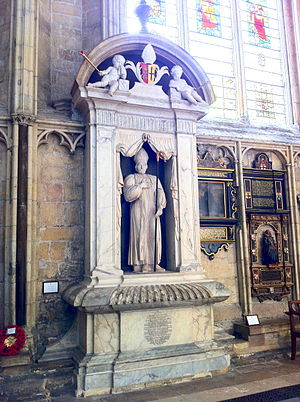 Thomas Lamplugh - Memorial to Lamplugh in the south choir aisle at York Minster