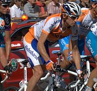 Denis Menchov termine le Tour de France 2008.