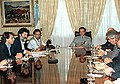 Menem recibe a líderes sindicales de prensa.jpg