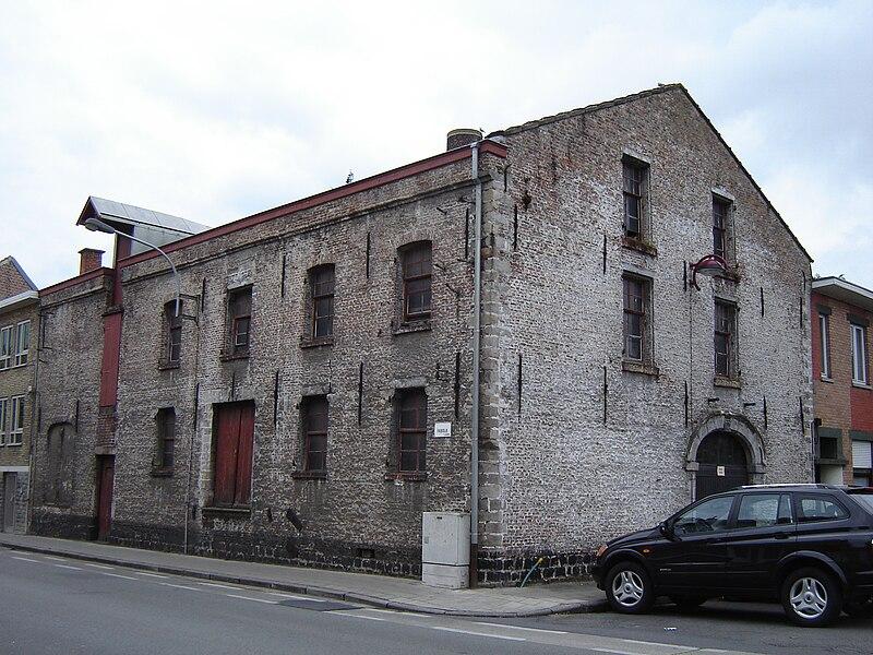 Former oil mill in Menen. Menen, West Flanders, Belgium