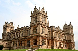 Renaissance Revival architecture - Mentmore Towers English Jacobethan Neo-Renaissance completed in 1854, derives motifs from Wollaton Hall completed in 1588