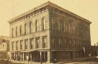 St. Louis Mercantile Library - Mercantile Library Hall, ca. 1870