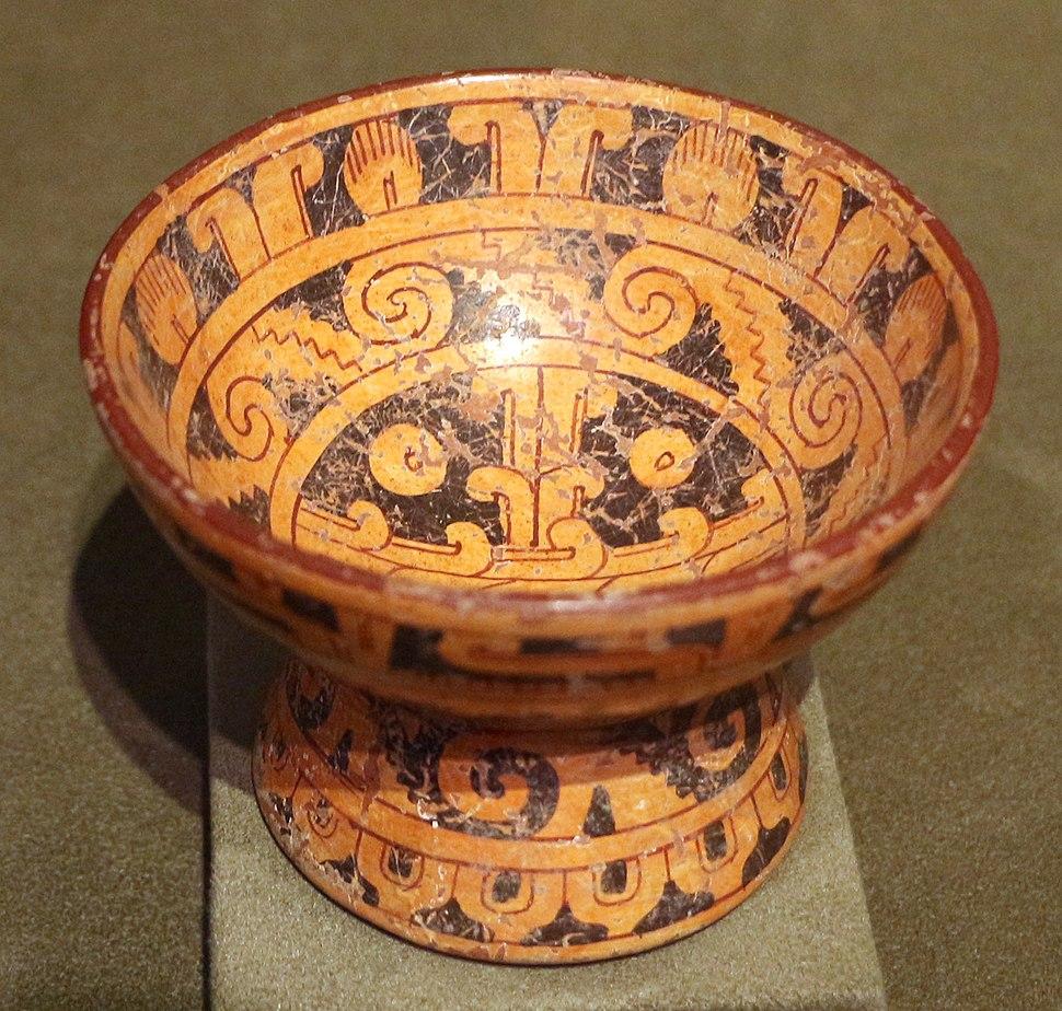 Mesoamerica, puebla, cholula, mixteca-puebla (nahua-mixteca), ciotola con piede, 1200-1521 ca. 02