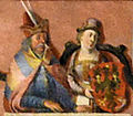 Mestwin I of Pomerelia and his wife.jpg